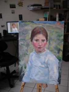 oil painting copy study